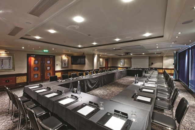 Beauchamp Suite set up in boardroom style for a meeting Grange City Hotel Venue Hire EC3