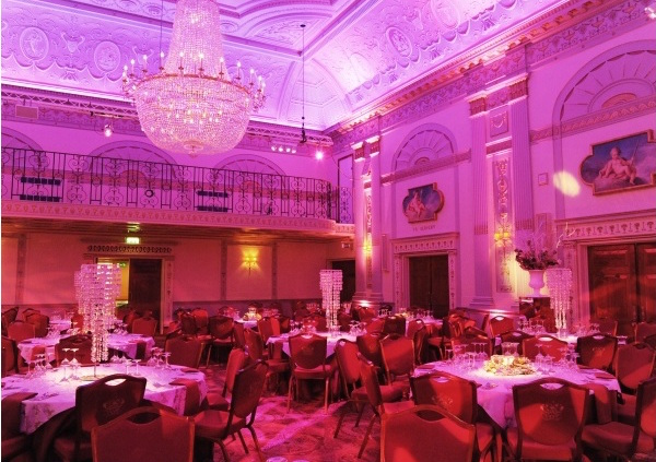 One London Wall Christmas Party EC2, large event space perfect for festive dinners, uplighting