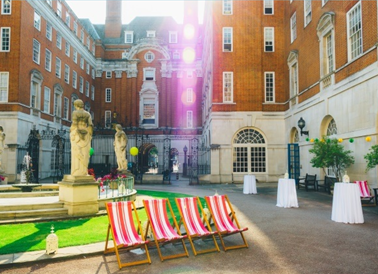 BMA House Summer Party WC1 space outside for summer party