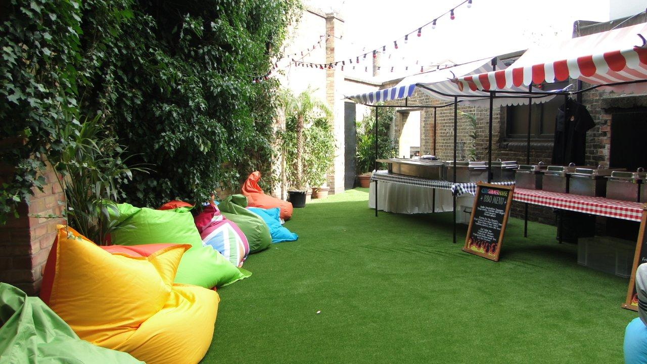 City Summer House Summer Party E1. Indoors or outdoors, the summer house is a versatile space that can be transformed into anything your imagination allows