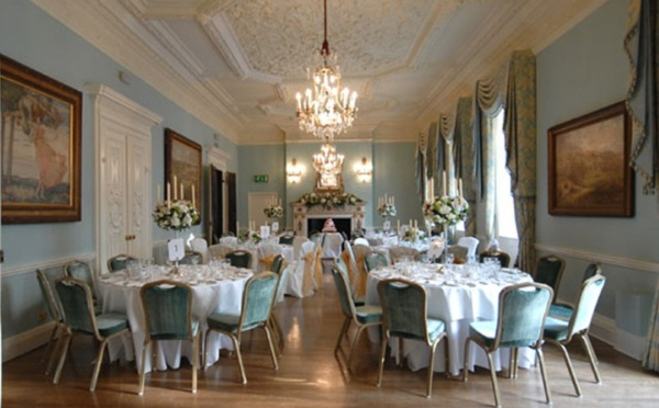 Dartmouth House Christmas Party Venue W1, stunning room for Christmas parties, dinner set up