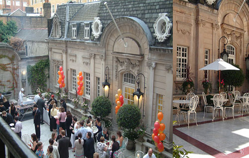 Dartmouth House Summer Party Venue W1, outside space, seating, reception area