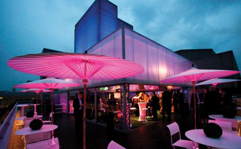 Deck Summer Party Venue London SE1, outside space,theming, stunning lighting, seating area