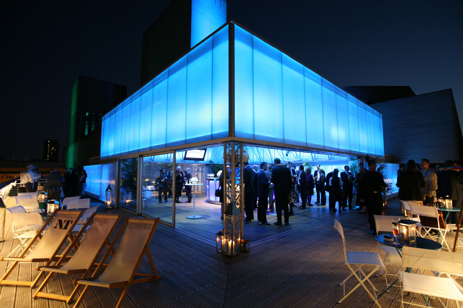 Deck Summer Party Venue London SE1, outside deck space, stunning lighting