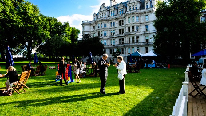 Inner Temple London Summer Party EC4, guests outdoors on the lawn