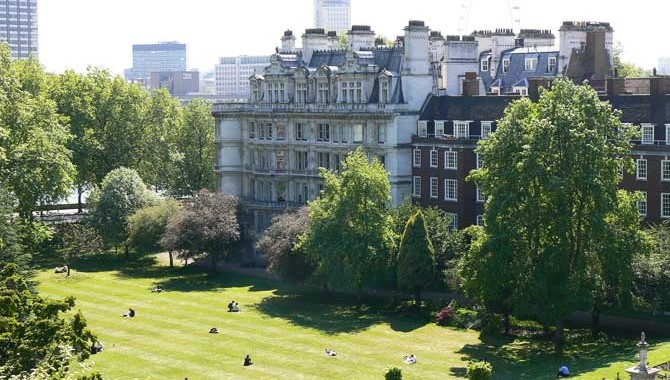 Inner Temple London Summer Party EC4, view of the garden