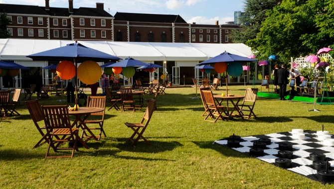 Inner Temple London Summer Party EC4, garden with lots of interactive games