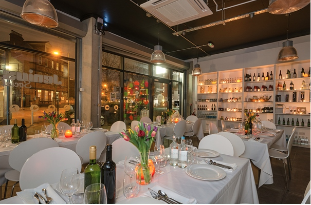Jenius Social London Venue Hire N7. private dining with flowers