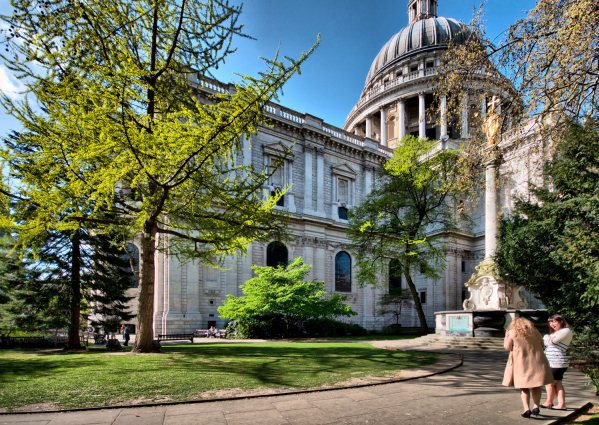 St Pauls Cathedral Summer Party EC4, outside space, large lawn