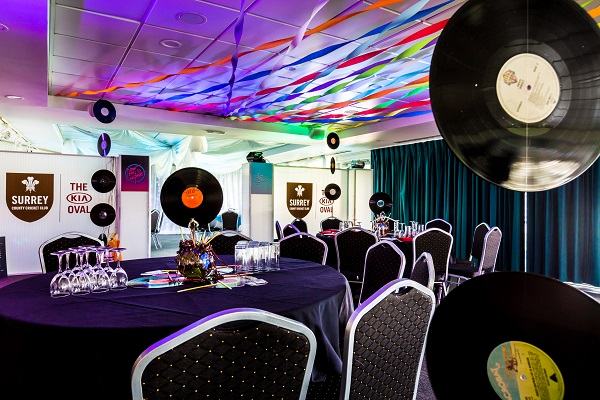 Kia Oval Christmas Party SE11. Banqueting tables