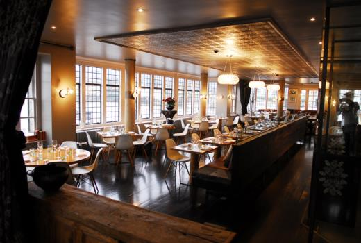 Swan Shakespeare's Globe Venue Hire SE1, restaurant with wooden features