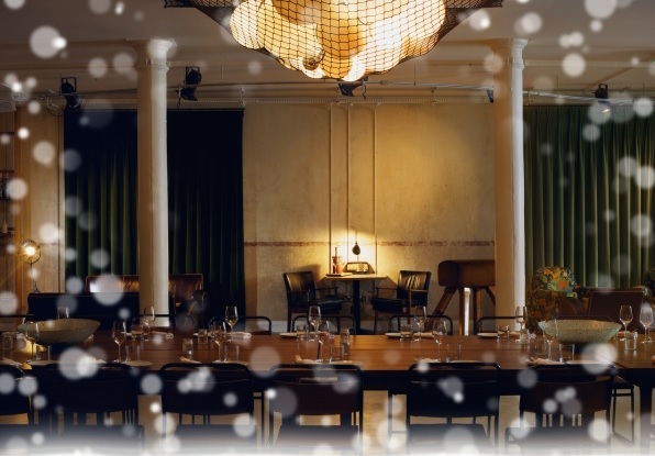 Tanner Warehouse Christmas Party SE1 venue with a festive feel
