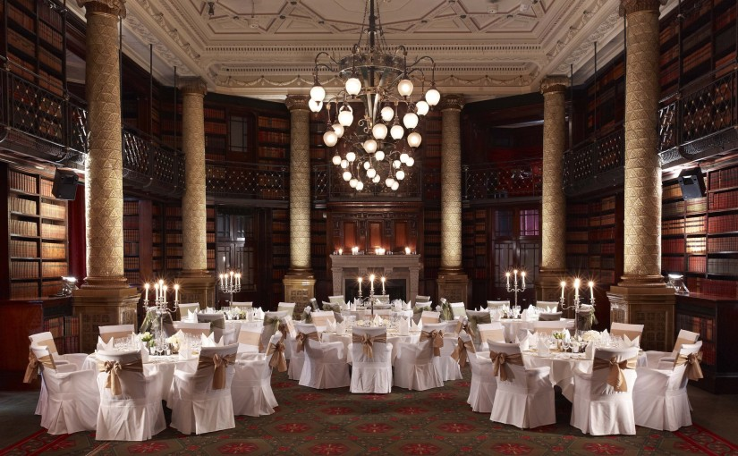 Royal Horseguards Hotel Christmas Party SW1 banqueting tables