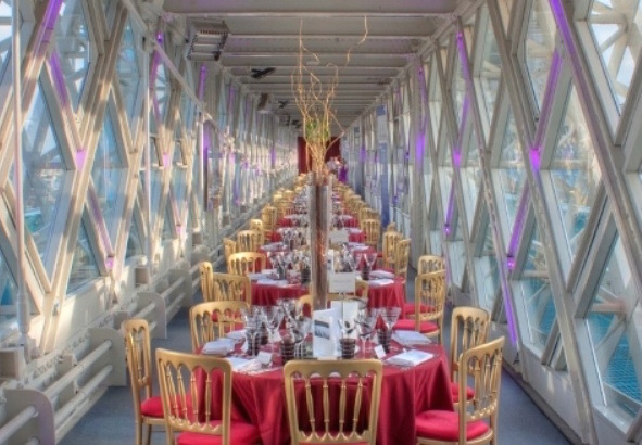 Tower Bridge Walkways Christmas Party Venue, Christmas lunch with views
