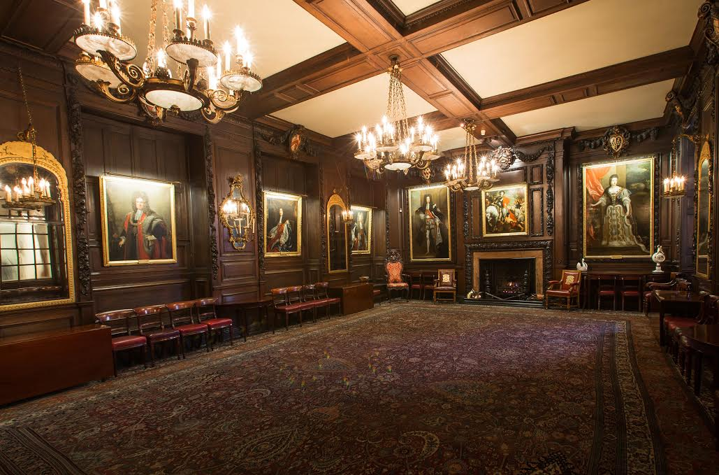 Vintners Hall Christmas Party EC4, open event space, reception area