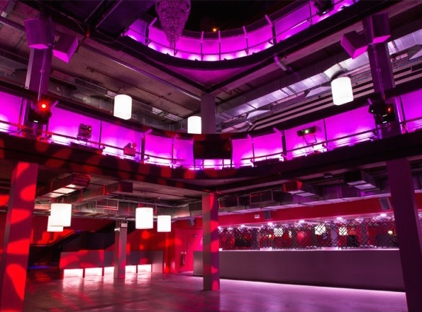 Building Six Christmas Party SE10, stunning lighting, large venue space