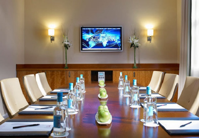 Marriott Birmingham Venue Hire B1. conference room set up cabriet style