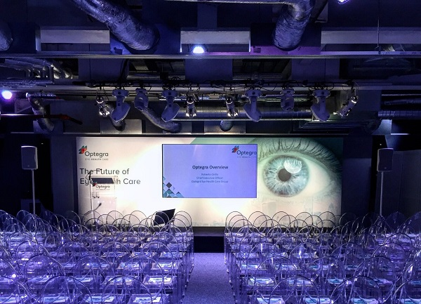 Leadenhall Building Venue Hire EC3- function room set out theatre style for a conference