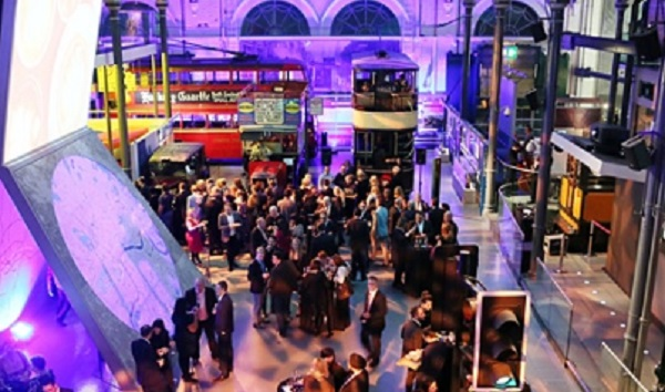London Transport Museum Christmas Party WC2 standing reception at venue