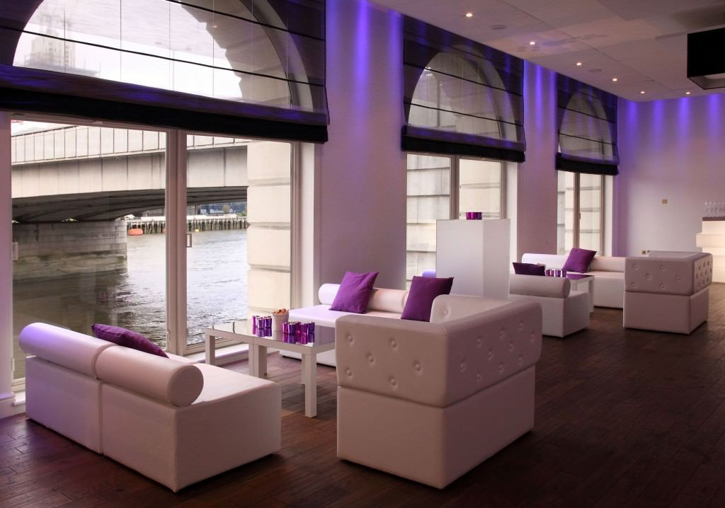 Glaziers Hall London Venue Hire SE1, river view with white furnishings