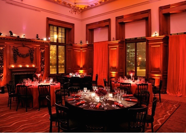 Edwardian Rooms Christmas Party SW1. festive lighting around venue