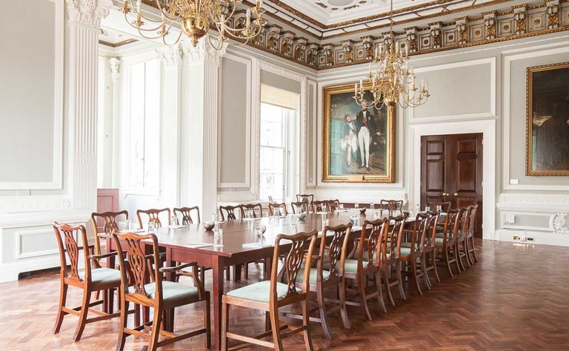 10 - 11 Carlton House Terrace Christmas Party SW1, private dining set up board room style