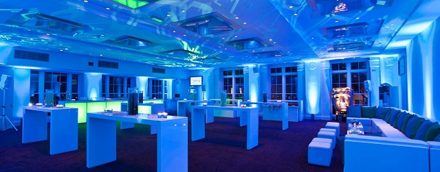 195 Piccadilly Venue Hire W1, david lean room with blue lighting