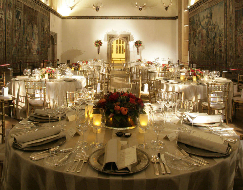 Hampton Court Palace Venue Hire KT8, seated dinner, table decorations