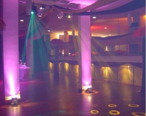 Holiday Inn Camden Lock Christmas NW1. Dance floor for guests with dicso lights.