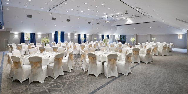 DoubleTree By Hilton Docklands Shared Christmas Party SE16, banqueting set up