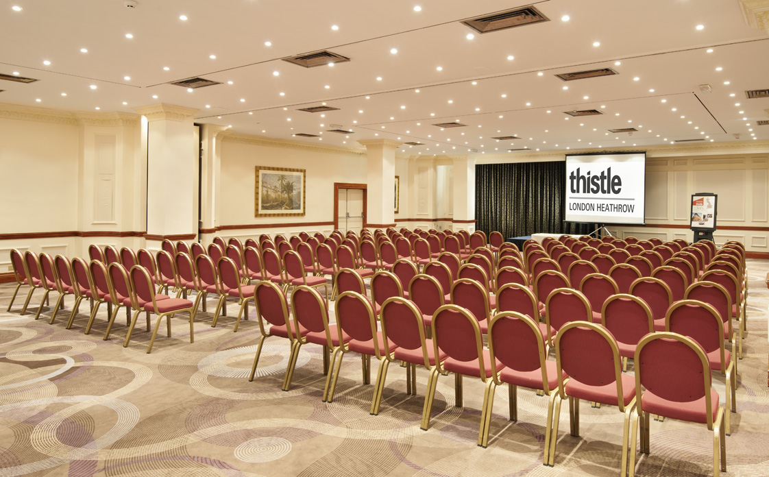Thistle Heathrow Venue Hire UB7 chairs set out theatre style