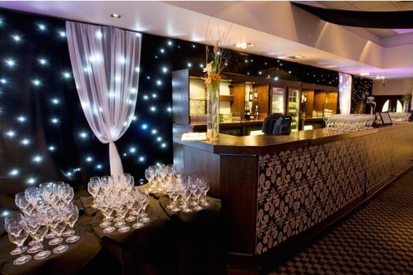 Lord's Cricket Ground Christmas Party NW8, lighting set up for standing reception