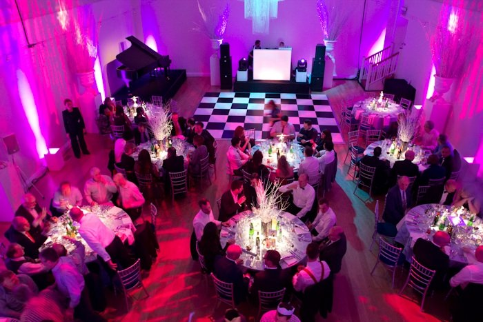 Marylebone Town House Venue Hire W1 banqueting tables set out in venues