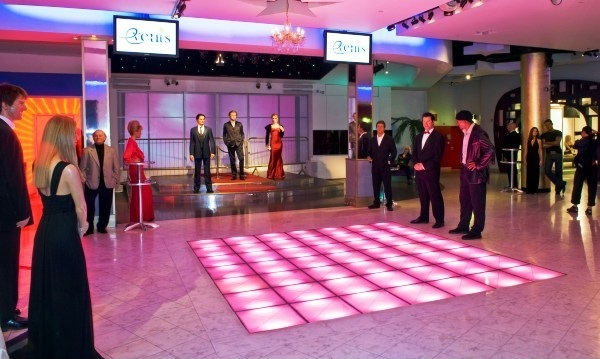 Madame Tussauds Shared Christmas Party NW1, iconic venue, lighted dance floor