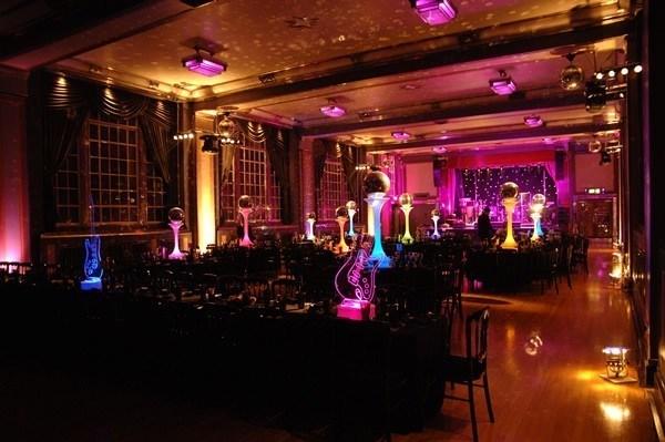Bloomsbury Ballroom Venue Hire London WC1, stunning dinner set up