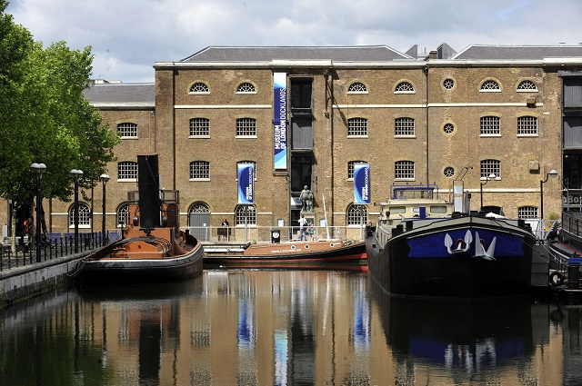 Exterior View of the venue with quayside in view with boats Museum of London Docklands Venue Hire E14
