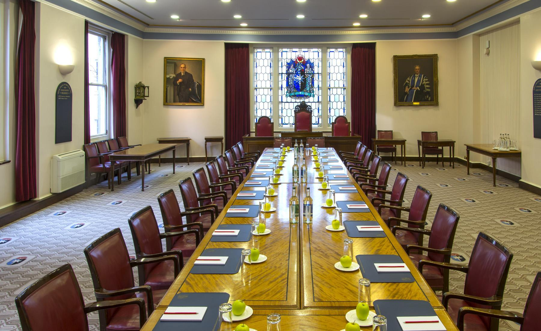 Boardroom Layout in the Committee Room Rooms on Regent's Park Venue Hire NW1