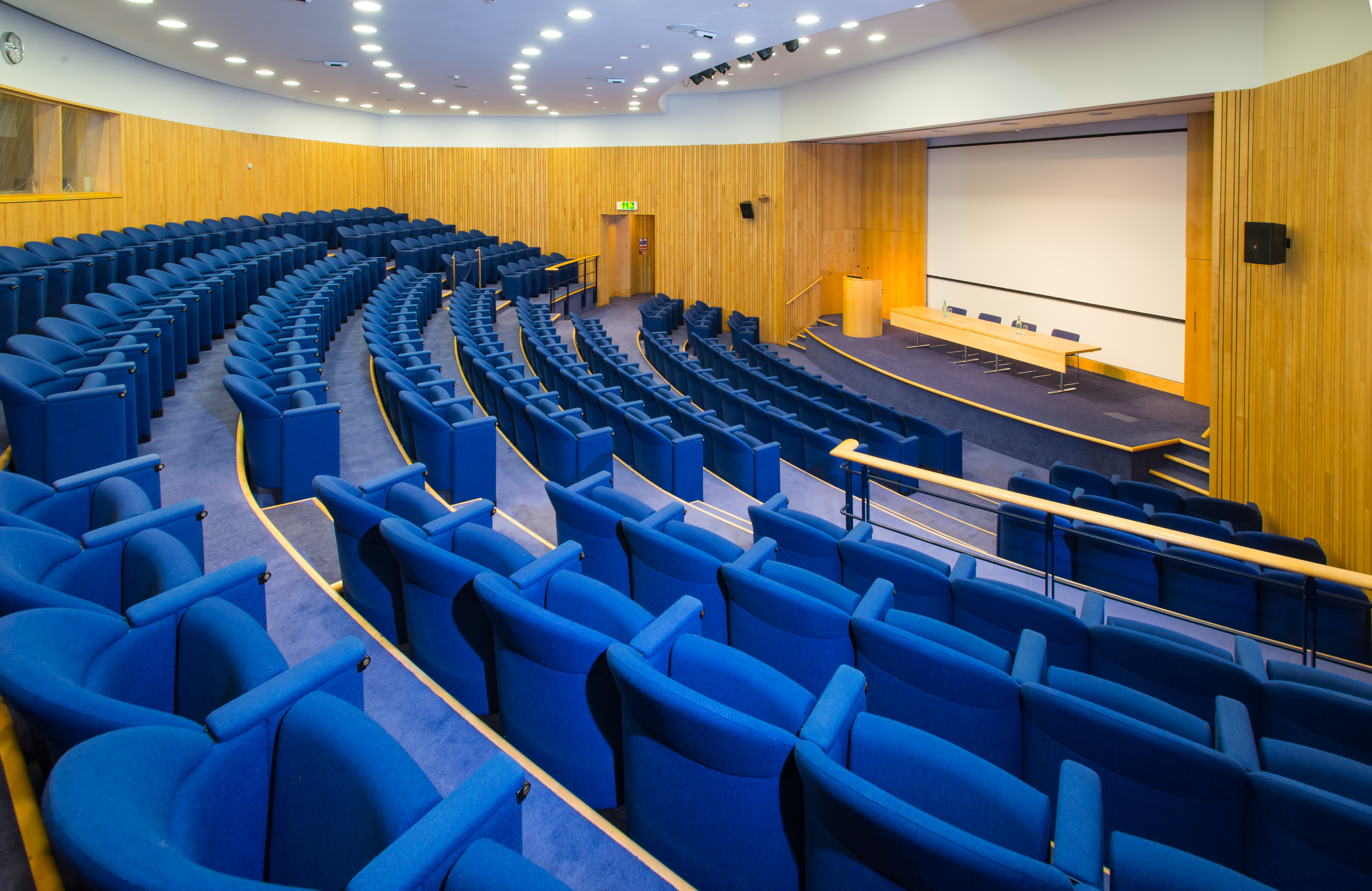 Permanent theatre style layout in the Lecture Theatre Rooms on Regent's Park Venue Hire NW1