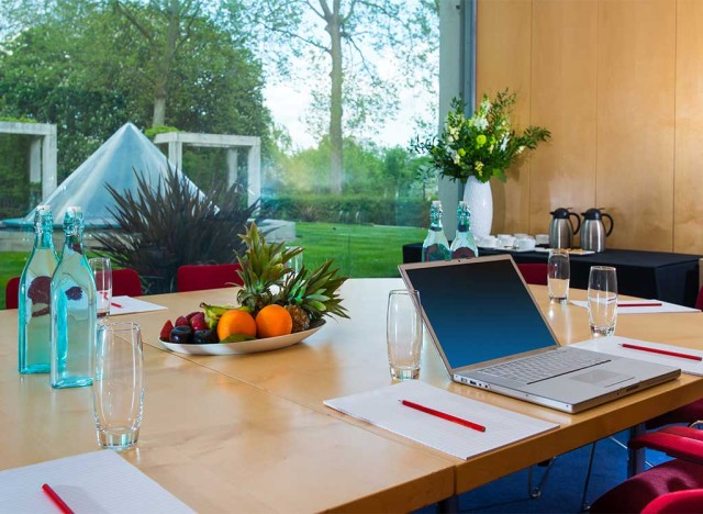 View of the Terrace from a desk in the Rooms on Regent's Park Summer Party NW1