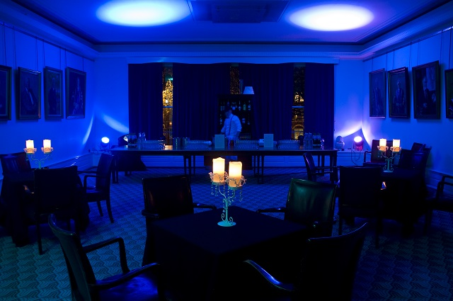 Christmas party cabaret layout Nuffield Hall Rooms on Regent's Park Christmas Party NW1