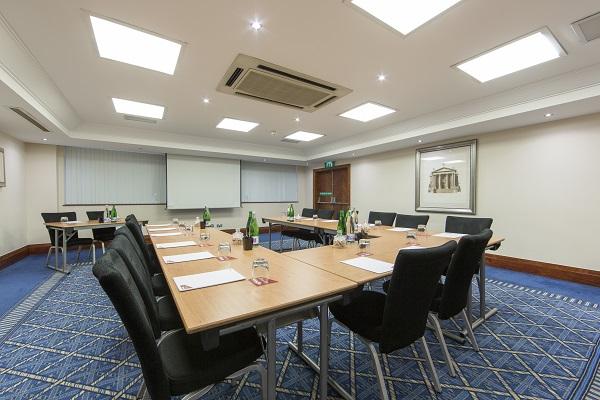 Thistle City Barbican Venue Hire EC1 room set out u-shape style
