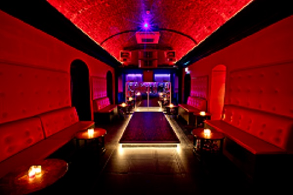 Toy Room London Christmas Party W1 lounge of venue