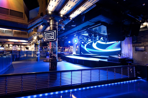 Chelsea Stamford Bridge Christmas Party SW6- Dancefloor and club area for a dinner dance