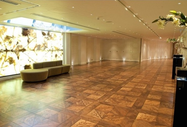 Westbury Mayfair Hotel Christmas Party W1. Empty large space for an event to be held.