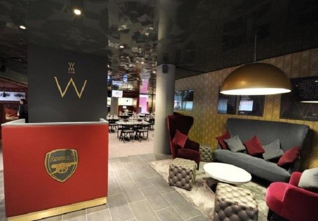 Emirates Stadium Christmas Party N5. Lounge area of Arsenal stadium
