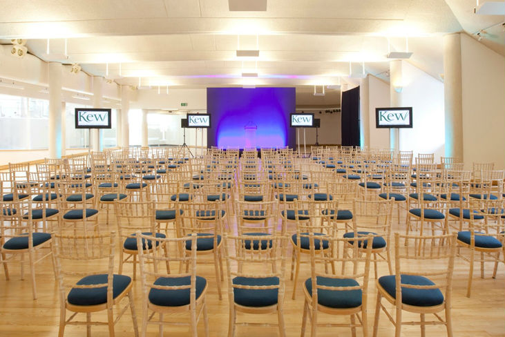 Joseph Banks Conference Venue TW9 room set out theatre style for conference