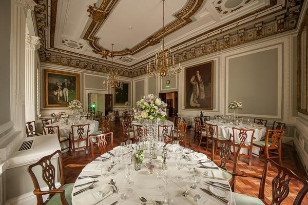10 - 11 Carlton House Terrace Christmas Party SW1. Gorgeous setting for private dining with its simple, elegant decor and furnishings. Amazing historic building with elegant deocor and simplistic furnishings.