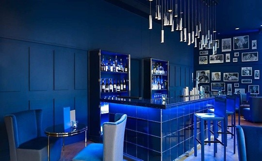 Double Tree Hilton Manchester Christmas Party M1, bar, reception drinks area