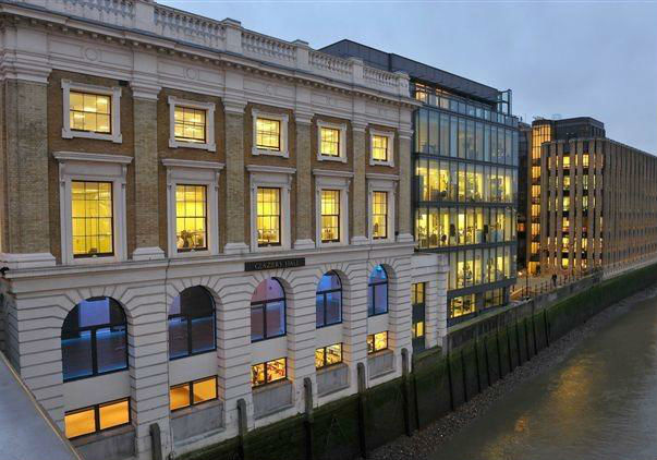 Glaziers Hall London Venue Hire SE1, exterior of the venue, colour washing, large windows, natural daylight