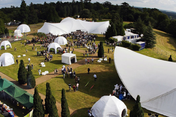 Hedsor House Venue Hire SL6, outside space with tents